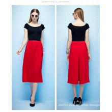 Verano nuevo diseño de alta cintura pantalones cortos pantalones Palazzo