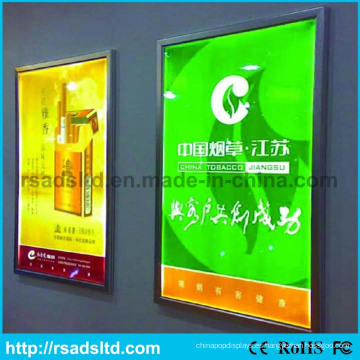 Caja de luz del marco del cartel de la imagen del LED delgado
