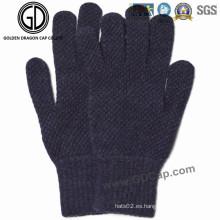 Hombres de invierno / otoño moda caliente guantes de punto