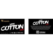 Vente en gros de coton biologique pour cigarette électronique pour cigarette électronique