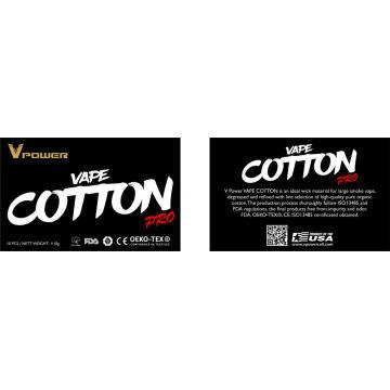 Wholesale E-cigarette Organic Cotton For E-cigarte