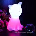 Mesita de noche animal forma lámpara con luz led USB led luz nocturna de lámparas para niños
