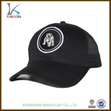 Fashion mesh snapback baseball blank trucker cap black