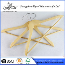 Wholesale metal hook clothes wood hanger Personalized Wooden Hangers