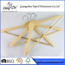 Оптовые продажи металлический крюк одежда Деревянная вешалка персонализированные вешалки деревянные