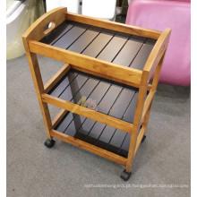 carrinho de madeira de móveis de spa com carrinho de bonde de salão de beleza