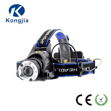 Heißer Scheinwerfer Aluminiumlegierung LED 10W T6 Zoom Wiederaufladbare LED Sport Wandern Scheinwerfer