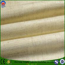 Super qualidade de poliéster / linho Fr Black out tecido para cortina de janela Uso
