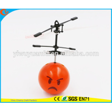 High Quality Interesting Mini Flying Ball Toy Angry Emoji Face Heli Ball for Kids