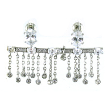 Buena calidad y joyería de la manera para la mujer Pendiente de plata 925 (E6485)
