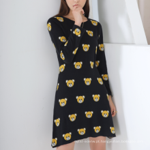 17 PKCS234 2017 malha de lã cashmere de malha camisola da senhora vestido
