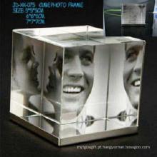 Frame de retrato de cristal do presente relativo à promoção novo do projeto quente (JD-XK-075)