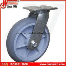 Roulettes pivotantes TPE TPR de 4 pouces à 6 pouces avec roulement à rouleaux