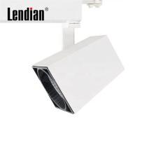 Aluminum CE RoHS SAA ETL black white surface mounted moving led square cop track light