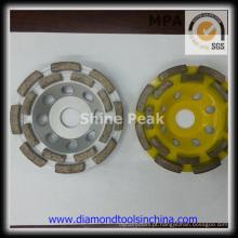 Taça em forma de rodas de moagem para betão