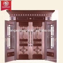 Casa comercial ou residencial Porta de bronze, porta de revestimento de cobre de folha dupla