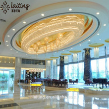 Grandes arañas de techo de cristal de imperio para hoteles