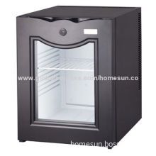 No-noise Hotel Mini Refrigerator with Lock and Glass Door