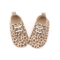 Wholesale Genuine Leather Leopard Baby Shoes Oxford Shoes