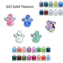 G23 Titan Cluster Opal Dermal Tragus Helix Zubehör Körper Piercing Schmuck