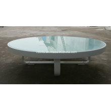 Alle Wetter Garten Outdoor Aluminium Glas Low Tisch