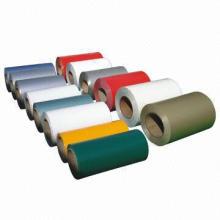 Color-painted aluminum coil