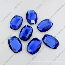 28mm Sapphier Oval Shape Glass Stone Flat Back Stones