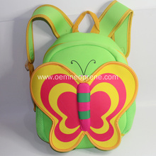 Butterfly Design Neoprene School Backpack for Kids