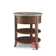 Round Drawer Side Table