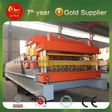 Máquina de fabricação de dupla camada para produtos de construção de aço