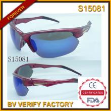 Moda 2015 más Cool deportes gafas de sol con muestra gratis (S15081)