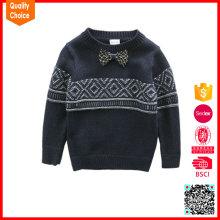 2016 nuevos muchachos de la manera tejen a mano el suéter del suéter del bebé del knit