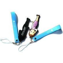 Colgante del teléfono móvil del pvc para la promoción, regalo, bolsos, teléfono móvil y venta de la masa
