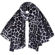 Fashion women Oem wholesale viscose cotton printed leopard women scarf