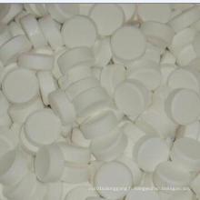 Comprimés blancs de chlore pour piscine