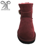OEM Supplier for Womens Winter Boots,Womens Leather Winter Boots,Womens Waterproof Snow Boots Manufacturer in China Women's Flat Ankle Snow Boots Suede Buckle export to Bahrain Exporter