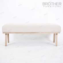 Public wooden long 3-seater waiting bench chair