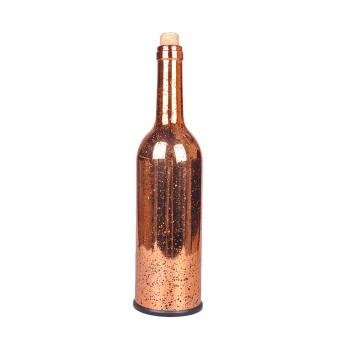 OEM for Lantern Ratten Plaited Ball Glass Copper Bottle with LED Light export to Armenia Factories