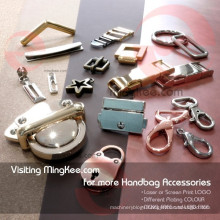 Custom Classic Embossed Logo Iron Brass handle for bag