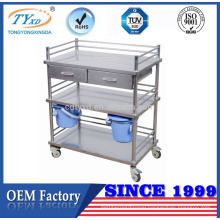 OEM factory medical utility delivery shelf trolley cart