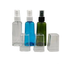 Wholesale 100Ml Empty Square Plastic Mist Spray Bottle Packaging For Sanitiser Florida Water And Perfume