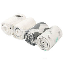 Grey/White Plus Boys and Girls Baby Breathable cotton swaddle blanket