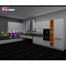 Cabinet de cuisine blanc haut brillant (personnalisé)