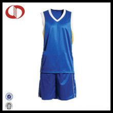 100% Polyester Quick Dry Man Basketball Uniform
