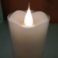 3D moving flame purple light LED velas da coluna