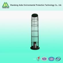 Para baghouse alta temperatura resistente de silicona recubierto soporte bolsa de filtro de polvo jaula