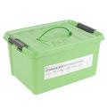 Boîte de rangement en plastique pleine couleur avec poignée (SLSN052)