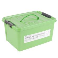 Caja de almacenamiento de plástico de color sólido con la manija (SLSN052)