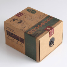 Tiroir Kraft de glissière d'emballage de thé à impression personnalisée