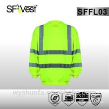 EN ISO hi vis workwear protective clothing safety sweatshirt Safety Uniforms